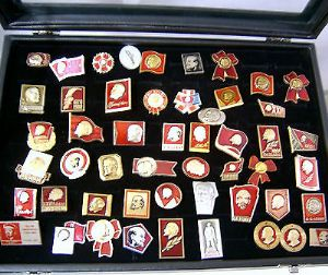 Russian Pin Badge - Lenin Collection No.1 - 40+ Original Soviet Badges